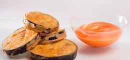 Berenjenas fritas con salmorejo